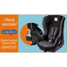 Scaun Auto Viaggio1 Duo Fix TT 9-18 kg + Suport Pahar PROMO Black - Scaun auto copii grupa 0-1 (0-18 kg) Peg Perego, 0-1 (0-18 kg), Isofix