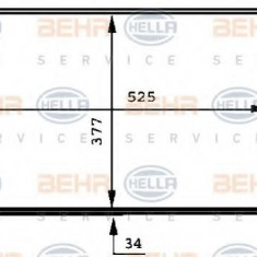 Radiator, racire motor VW PASSAT 2.0 - HELLA 8MK 376 717-741 - Radiator racire LuK