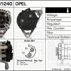 Generator / Alternator OPEL ASTRA G hatchback 1.2 16V - DELCO REMY DRB1240 - Alternator auto