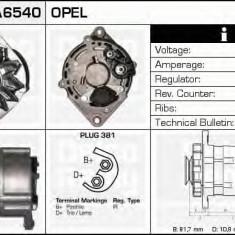 Generator / Alternator OPEL KADETT E hatchback 1.6 i - DELCO REMY DRA6540 - Alternator auto