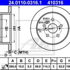Disc frana LEXUS RX 300 - ATE 24.0110-0316.1 - Discuri frana REINZ