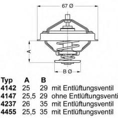 termostat,lichid racire VW GOLF Mk IV 2.8 V6 4motion - WAHLER 4455.80D
