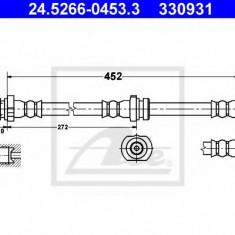 Furtun frana NISSAN SENTRA II hatchback 1.5 - ATE 24.5266-0453.3, REINZ