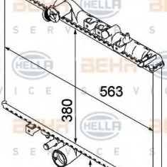 Radiator, racire motor PEUGEOT 607 limuzina 2.2 HDI - HELLA 8MK 376 745-081 - Radiator racire LuK