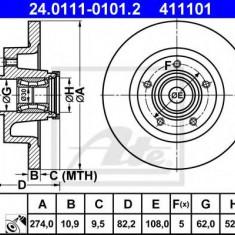 Disc frana RENAULT LAGUNA II 1.6 16V - ATE 24.0111-0101.2 - Discuri frana REINZ