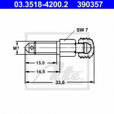 Surub/supapa aerisire - ATE 03.3518-4200.2