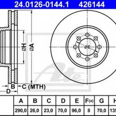 Disc frana MERCEDES-BENZ SPRINTER 5-t platou / sasiu 616 CDI - ATE 24.0126-0144.1 - Discuri frana REINZ