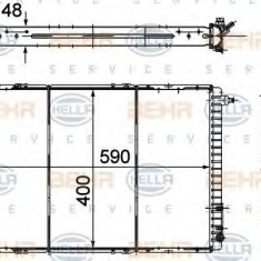 Radiator, racire motor RENAULT 19 Mk II 1.8 16V - HELLA 8MK 376 706-501 - Radiator racire LuK