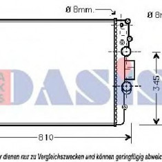 Radiator, racire motor IVECO DAILY III platou / sasiu 35 S 13, 35 C 13 - AKS DASIS 400009N - Radiator racire KLOKKERHOLM