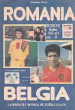 Program meci fotbal ROMANIA - BELGIA 13.10.1994