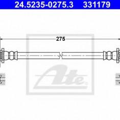 Furtun frana TOYOTA COROLLA limuzina 1.3 XLI 16V - ATE 24.5235-0275.3, REINZ