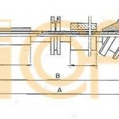 Arbore tahometru MERCEDES-BENZ limuzina 200 - COFLE S05005