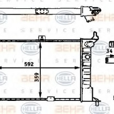 Radiator, racire motor OPEL ASTRA F hatchback 1.4 i - HELLA 8MK 376 715-311 - Radiator racire LuK