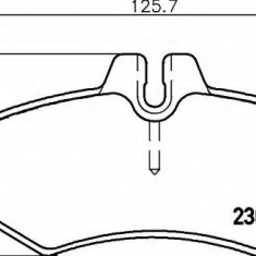 Placute frana ATE MERCEDES-BENZ G-CLASS 350 Turbo GD - HELLA 8DB 355 008-651