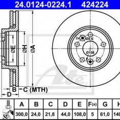 Disc frana RENAULT SCÉNIC II 2.0 dCi - ATE 24.0124-0224.1 - Discuri frana REINZ