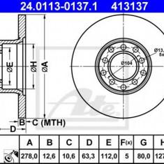 Disc frana MERCEDES-BENZ /8 limuzina 230.6 - ATE 24.0113-0137.1 - Discuri frana REINZ