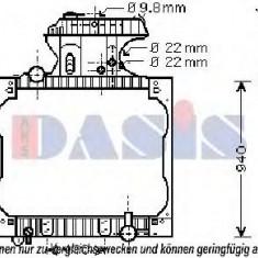 Radiator, racire motor MAN TGA 18.410, 18.420 FC, FRC, FLC, FLRC, FLLC, FLLW, FLLRC, FLLRW - AKS DASIS 260016N - Radiator racire KLOKKERHOLM