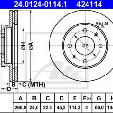 Disc frana MITSUBISHI GALANT Mk III 1.6 GLX - ATE 24.0124-0114.1 - Discuri frana REINZ