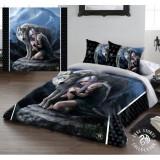 Set lenjerie de pat din bumbac Lupul Protector 220x230