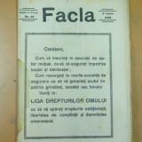Facla 9 iunie 1923 Vacaresti liga drepturilor omului Basarabia Cantacuzino