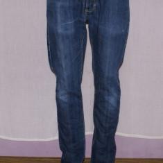 Blugi barbati VOLCOM marimea W30 L32 slim fit, Culoare: Bleumarin, Lungi, Cu rupturi, Normal