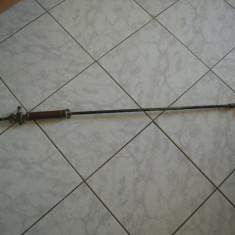 Pulverizator vechi pentru stropit pomii, vita de vie, din alama, L=80 cm.