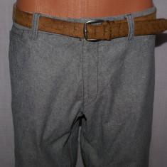 Pantaloni barbati HUGO BOSS Orange Label gri marimea 48, Lungi, Bumbac