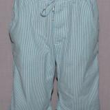 Pantaloni scurti barbati H&M HM din material seersucker M culoarea turcoaz
