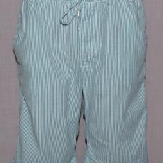Pantaloni scurti barbati H&M HM din material seersucker M culoarea turcoaz - Pantaloni barbati H&m, Marime: M, M, Bumbac