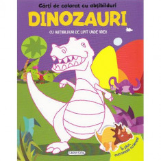 Carte de Colorat cu Abtibilduri - Dinozauri