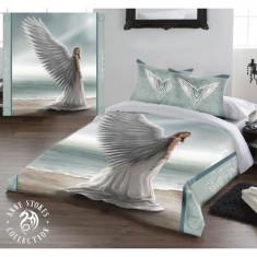 Set lenjerie de pat din bumbac Îngerul păzitor 200x200
