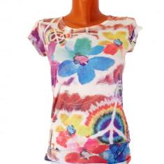Tricou EMI Multicolor - Tricou dama, Marime: M, Culoare: Din imagine, Imprimeu grafic, Maneca scurta, Casual
