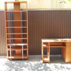 Birou studiu + corp biblioteca
