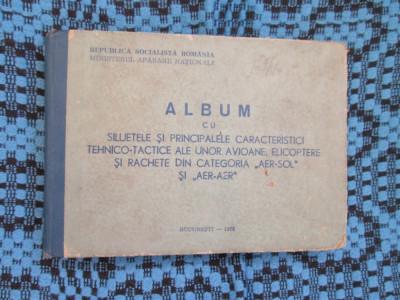 ALBUM SILUETELE SI PRINCIPALELE CARACTERISTICI DE AVIOANE, ELICOPTERE SI RACHETE foto