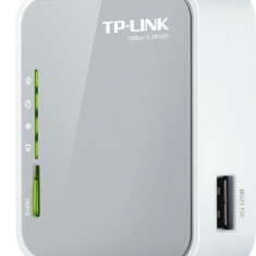 ROUTER TP-LINK model: TL-MR3020 WIRELESS PORTURI: 1 x RJ-45 10/100, Port USB, Porturi LAN: 1