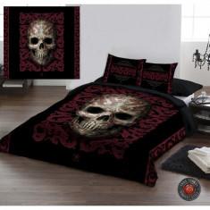 Set lenjerie de pat din bumbac Oriental Skull 200x200