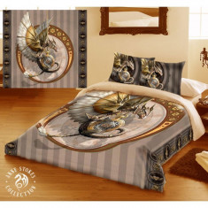 Set lenjerie de pat din bumbac Dragonul Steampunk 200x200