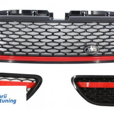 Ansamblu Grila Centrala si Grile Laterale Land Rover Range Rover Sport (2005-2009) L320 Autobiography Look Black Red Edition - Grile Tuning