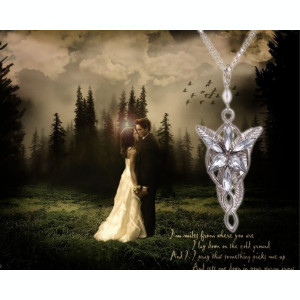 Pandantiv Lord of the Rings Arwen Evenstar | Elven Princess Argintiu Auriu