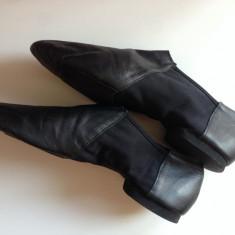 Pantofi dans profesionali originali din piele M:42 Hand Made UK - Pantofi barbat, Culoare: Negru
