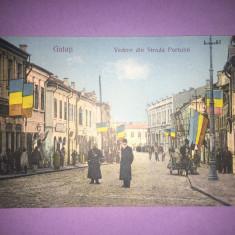 Galati - Vedere din Strada Portului - Carte Postala Moldova 1904-1918, Circulata, Fotografie