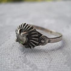 Inel argint vechi executat manual Vintage Finut Elegant si de Efect