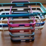 Bumper aliminiu / Bumper metalic / Husa pentru Iphone 5 / 5s / SE