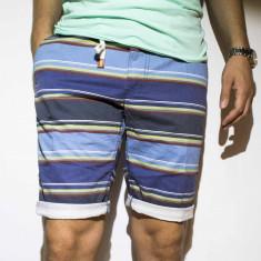 Pantaloni scurti bumbac pantaloni dungi pantaloni barbat bermude cod 32 - Bermude barbati, Marime: 34, 36, 38, Culoare: Din imagine