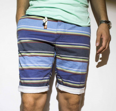 Pantaloni scurti bumbac pantaloni dungi pantaloni barbat bermude cod 32 foto