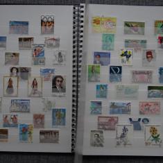 V232 Clasor Nou A4 Cu timbre Straine Australia, Israel, Sua, Germania, Stampilat