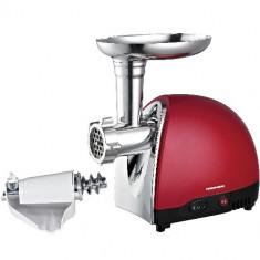 Masina tocat Heinner MG1200TA-RED, 1200W, adaptor suc rosii si carnati