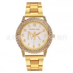 Ceas Casual Luxury Michael Kors Diamond MK-3 Cadran Cristale Dame 3 CULORI