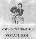 Manifest + caricatură, politice din 1990