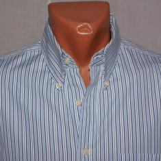 Camasa barbati CHARLES TYRWHITT albastra cu dungi guler oxford marimea M, Marime: M, Culoare: Albastru, Maneca lunga